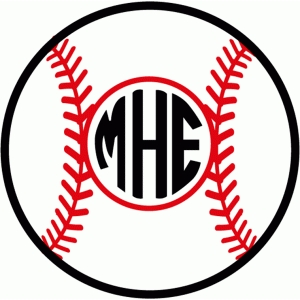 baseball & softball monogram
