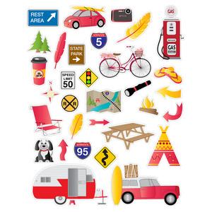 Car Trip Planner >> Silhouette Design Store View Design 271826 Red Road Trip Planner