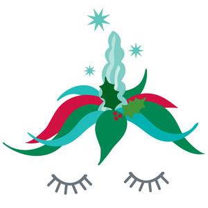 silhouette design store view design 228846 christmas unicorn - Christmas Unicorn