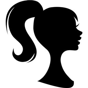 silhouette design store view design 5346 girl ponytail barbie clipart stencil barbie clip art beach