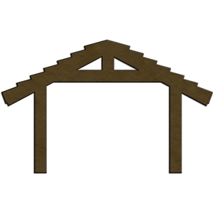 Silhouette Design Store - View Design #5846: nativity - stable
