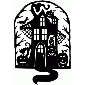 Silhouette Design Store View Design 65646 Haunted House