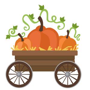 Silhouette Design Store - View Design #303066: pumpkin wagon
