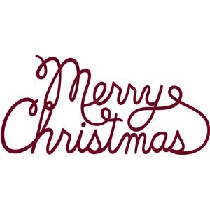 silhouette design store view design 4666 merry christmas cursive