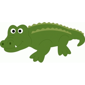 Silhouette Design Store - View Design #47966: cute alligator