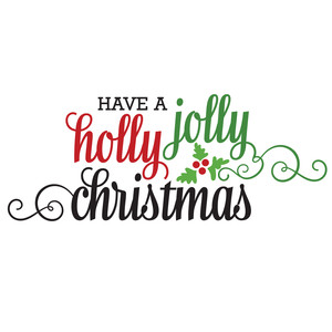 silhouette design store view design 165076 holly jolly christmas - Have A Holly Jolly Christmas