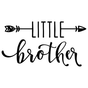 Silhouette Design Store View Design 179686 Little Brother With Arrow Phrase