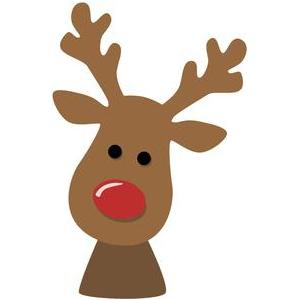 Silhouette Design Store - View Design #103996: reindeer face Red Straight Line Vector