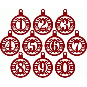 Silhouette Design Store Christmas Ornaments Numbers