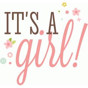 Silhouette Design Store - View Design #73996: it's a girl