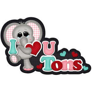5274a7c490 Silhouette Design Store - View Design #115707: i love you tons elephant  title