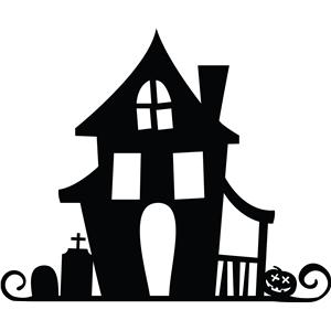 Silhouette Design Store View Design 13107 Haunted House