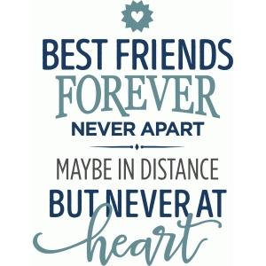 Silhouette Design Store - View Design #98307: best friends forever never apar...