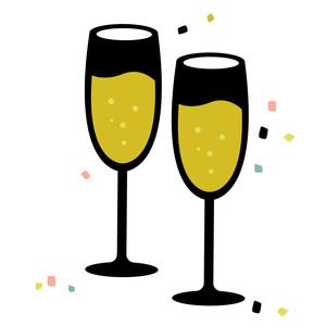 076989b692c Silhouette Design Store - View Design #239227: december - champagne glasses