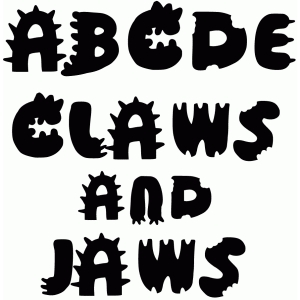 Silhouette Design Store - View Design #73627: claws and jaws font