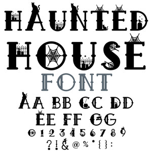 Silhouette Design Store - View Design #275747: haunted house font