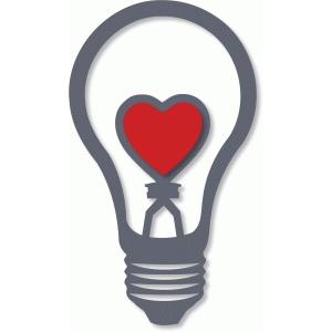 Silhouette Design Store View Design 37647 love heart light bulb lamp