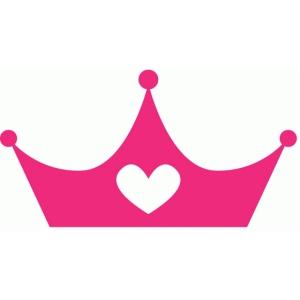 silhouette design store view design 79747 heart princess crown