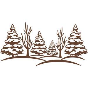 Silhouette Design Store View Design 105457 Winter Scene