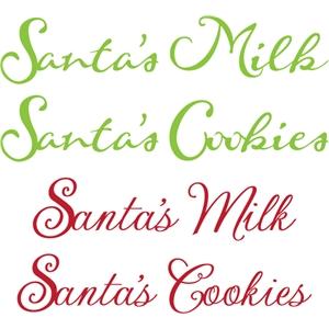 Silhouette Design Store View Design 15057 Santa S Milk Cookies