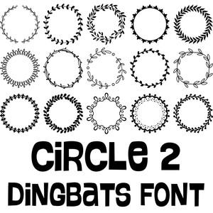 Silhouette Design Store - View Design #273157: circle 2 dingbats