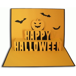 Halloween Pop Up Cards Templates.Silhouette Design Store View Design 66067 Happy