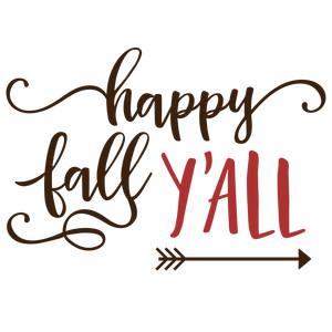 Silhouette Design Store - View Design #146777: happy fall ...