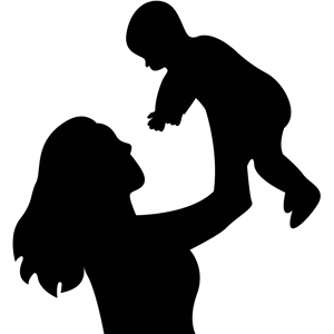 Silhouette Design Store - View Design #13787: mother and ... Mother And Baby Silhouette Clip Art Free