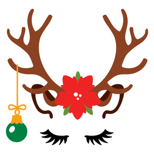 Silhouette Design Store View Design 222387 Reindeer Face