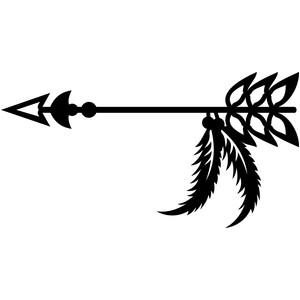 Silhouette Design Store - View Design #151808: tribal arrow