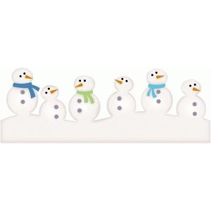 Silhouette Design Store View Design 72618 Snowman Border