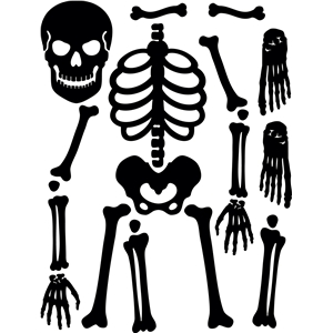 skeleton template to cut out - silhouette design store view design 4828 positionable