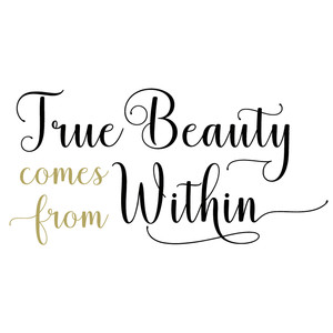 Silhouette Design Store - View Design #175738: true beauty comes from within