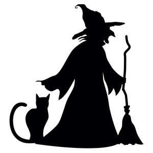 Silhouette Design Store View Design 218538 Witch Cat Broom