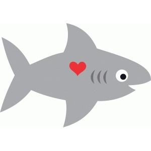 Silhouette Design Store View Design 74238 Cute Shark Love