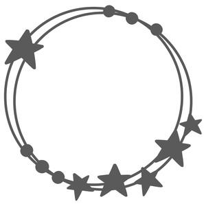 Silhouette Design Store View Design 272648 Star Monogram Frame