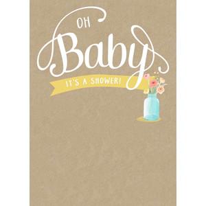 Silhouette Design View 271258 Blank Diy Baby Shower Invitation