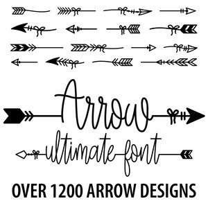 Silhouette design store view design 272658 arrow ultimate font stopboris Image collections