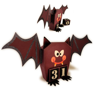 bat halloween 3d calendar blocks