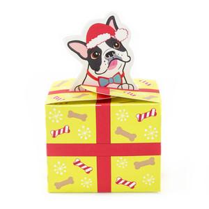 silhouette design store view design 232988 boston terrier christmas present box - Boston Terrier Christmas