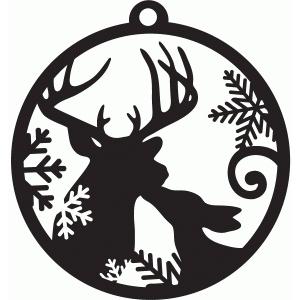 Silhouette Design Store View Design 71288 Kissing Deer Tag