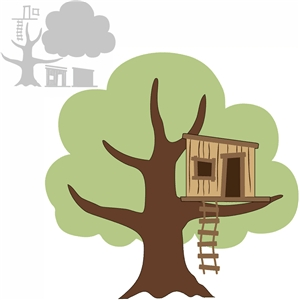 Silhouette Design Store - View Design #10398: backyard tree house on online blueprints, online furniture, online magazines,