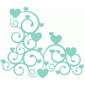 Silhouette Design Store View Design 72198 Heart Swirl