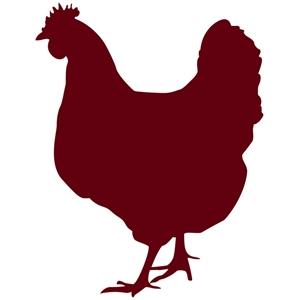 Silhouette Design Store View Design 6509 Chicken Hen