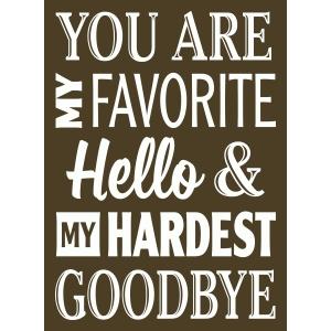 Silhouette Design Store View Design 66509 Favorite Hello Hardest Goodbye