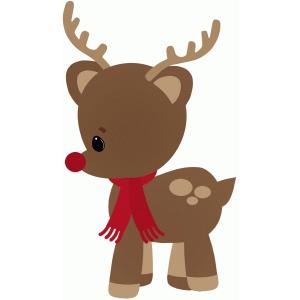 Deer Head Silhouette Printable Christmas