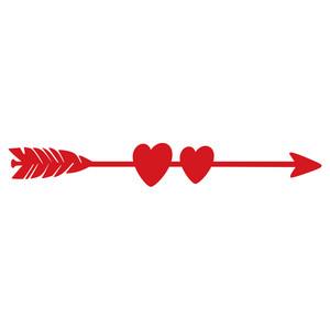 Silhouette Design Store - View Design #138629: love arrow
