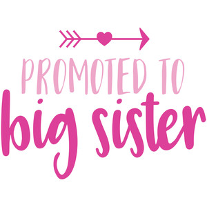 Silhouette Design Store - View Design #174829: promoted to big sister