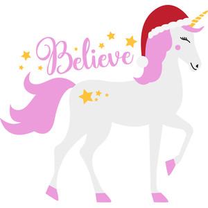 Christmas Unicorn.Believe Christmas Unicorn