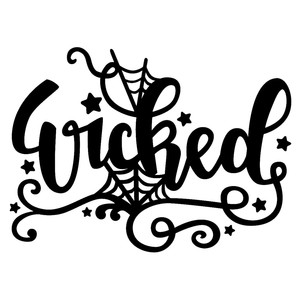 silhouette design store view design 226149 wicked halloween word